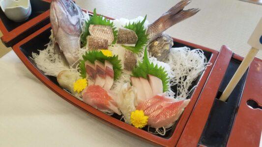 伊豆 稲取東海ホテル湯苑の部屋食ご飯♪料理極盛り!朝食_お造り(船盛り)