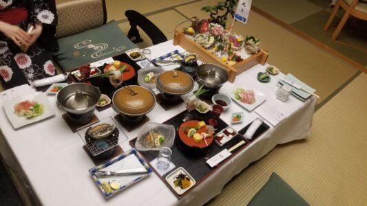 伊豆 稲取東海ホテル湯苑の部屋食ご飯♪料理極盛り!夕食全体1