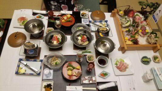 伊豆 稲取東海ホテル湯苑の部屋食ご飯♪料理極盛り!夕食全体2