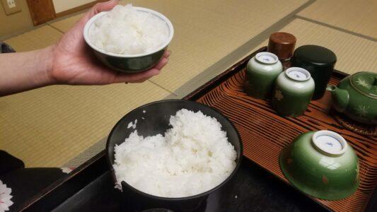伊豆 稲取東海ホテル湯苑の部屋食ご飯♪料理極盛り!夕食メニュー_ごはん(白米)