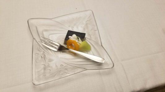 伊豆 稲取東海ホテル湯苑の部屋食ご飯♪料理極盛り!夕食メニュー_デザート1