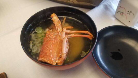 伊豆 稲取東海ホテル湯苑の部屋食ご飯♪料理極盛り!朝食_伊勢海老みそ汁