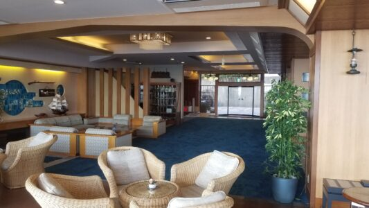 伊豆 稲取東海ホテル湯苑の館内はこんな感じでした【宿泊旅行記】ロビー